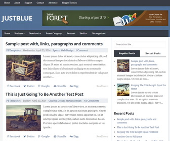 Just Blue Responsive Blogger Template