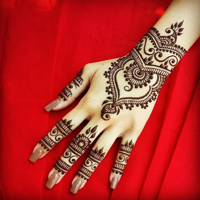 Arabic mehndi patterns