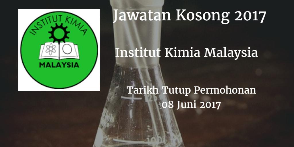 Jawatan Kosong Institut Kimia Malaysia 08 Juni 2017