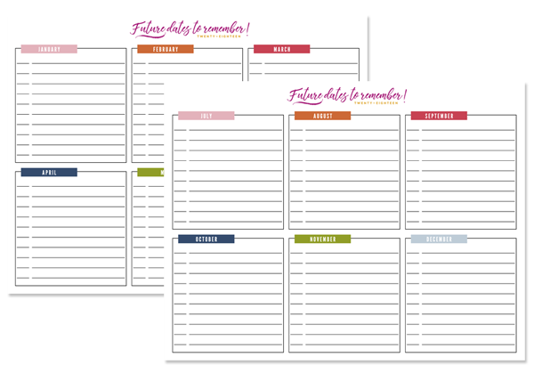graphic relating to Free Printable Organizing Sheets known as IHeart Planning: Absolutely free Printables