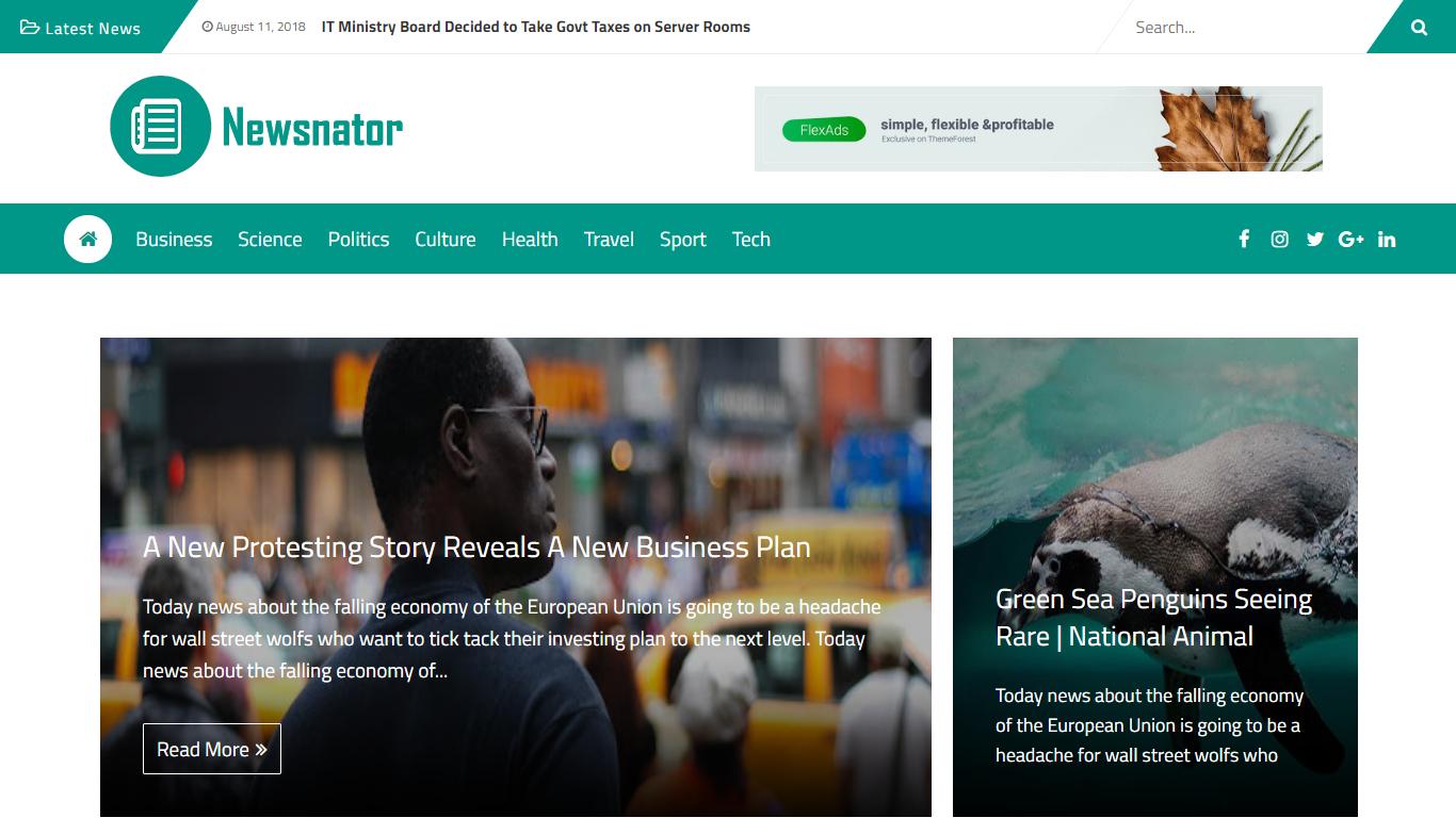 Newsnator Responsive Blogger Theme