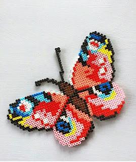hama boncuğu kelebek