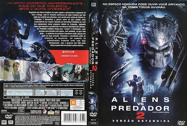 Capa DVD Alien versus Predador 2