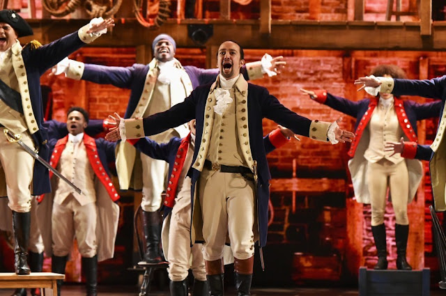"Lin-Manuel Miranda of ""Hamilton"" performs at the Tony Awards."