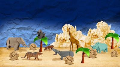 Origami untuk Mendekorasi Ruangan Bermain Anak