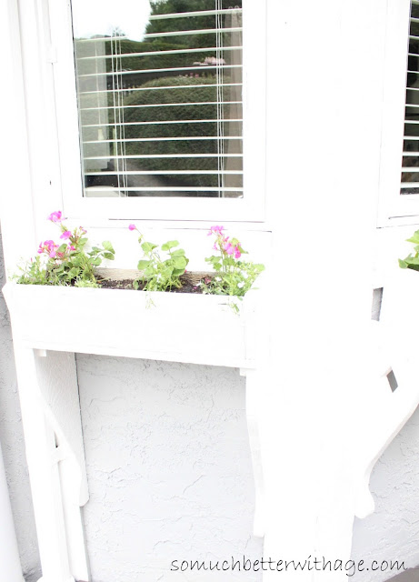 Window planters  www.somuchbetterwithage.com