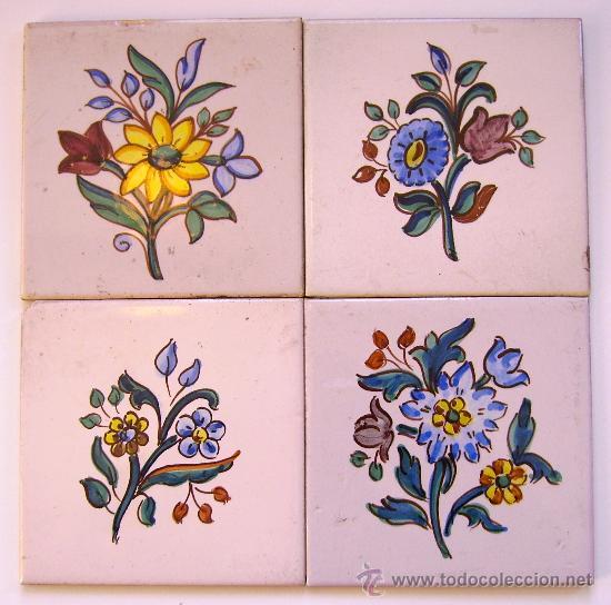 Pequenos quadros feitos com azulejos feito por mim Pintar azulejos a mano