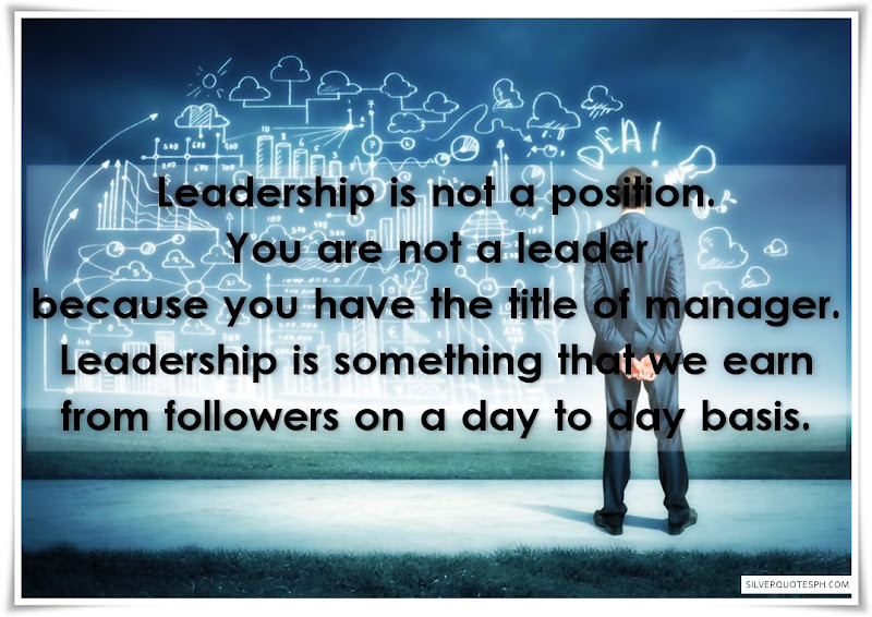 Leadership Is Not A Position