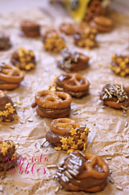 The classic Rolo pretzel sandwiches made gluten free