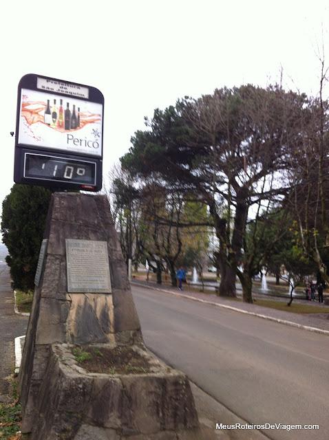 Termômetro na Praça João Ribeiro - São Joaquim/SC