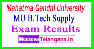 Mahatma Gandhi University B.Tech Supply Exam Results