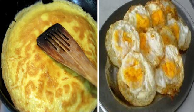 4 Variasi Membuat Telur Dadar Yang Unik, Mudah dan Enak