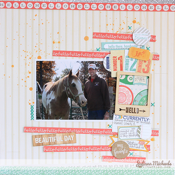 Hello Beautiful Day Layout by Juliana Michaels #ellesstudio