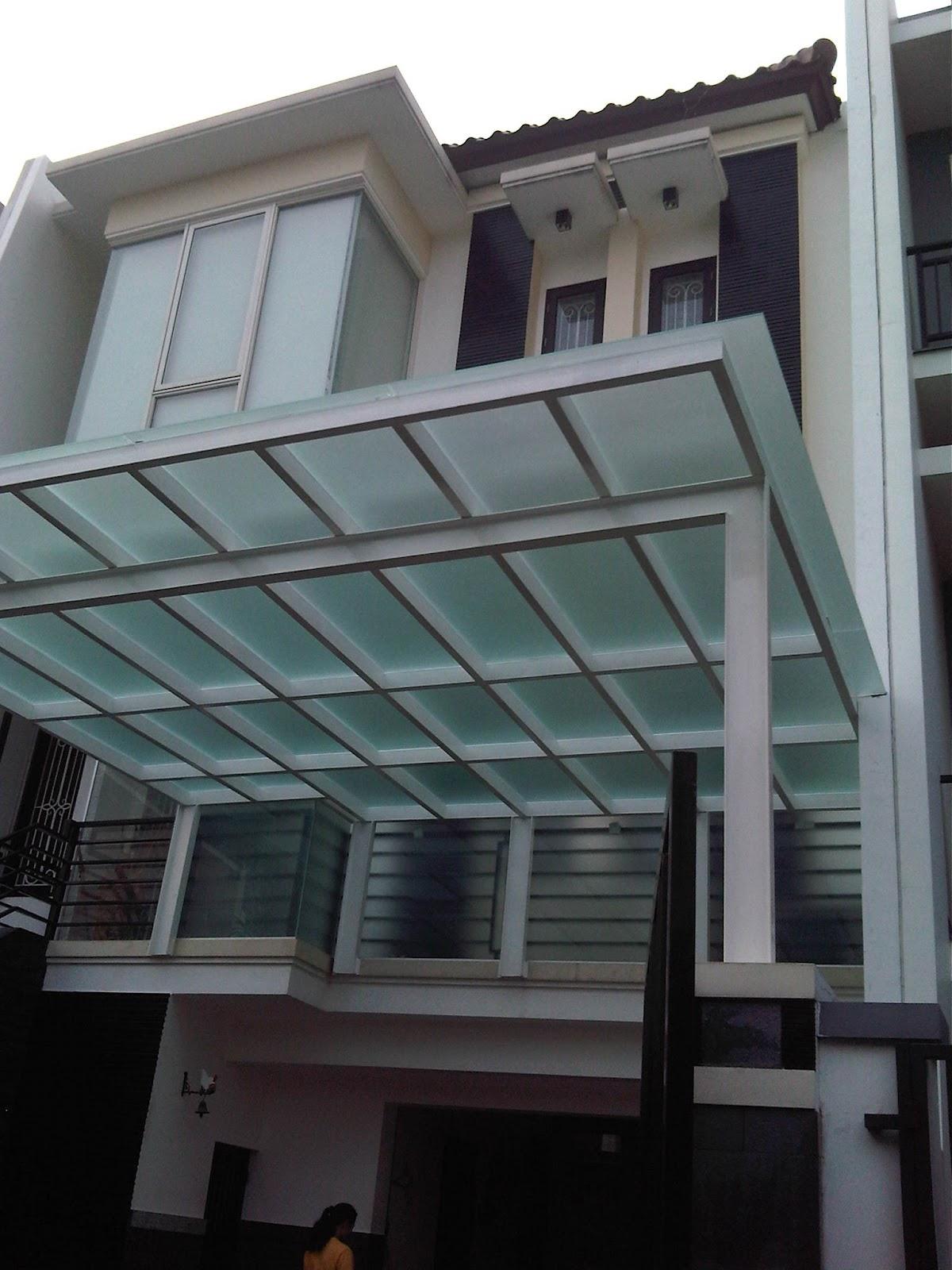 Satmatindo Glass Canopy Kaca Tempered Kanopi Kaca