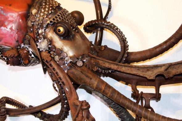 John Lopez arte esculturas metal sucata ferro velho animais rancho americanos