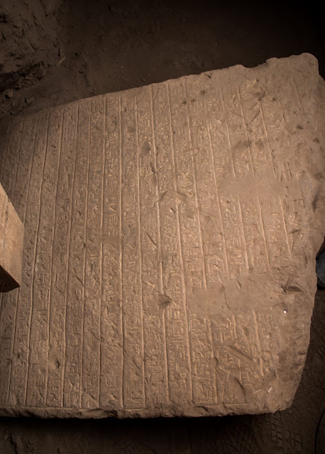Two sandstone stele discovered in Egypt's Aswan
