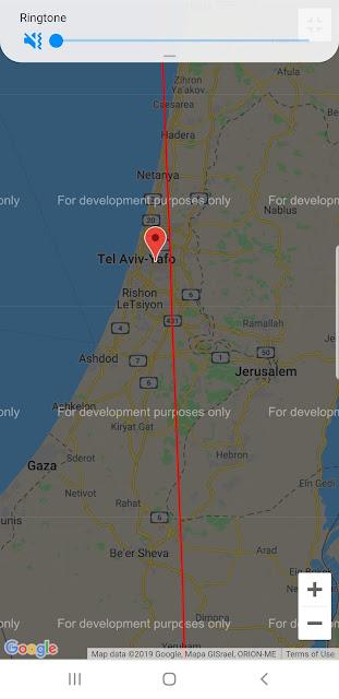 מפת המעבר בישראל - הפס האדום הוא מרכז המעבר וכדאי להיות סמוך אליו