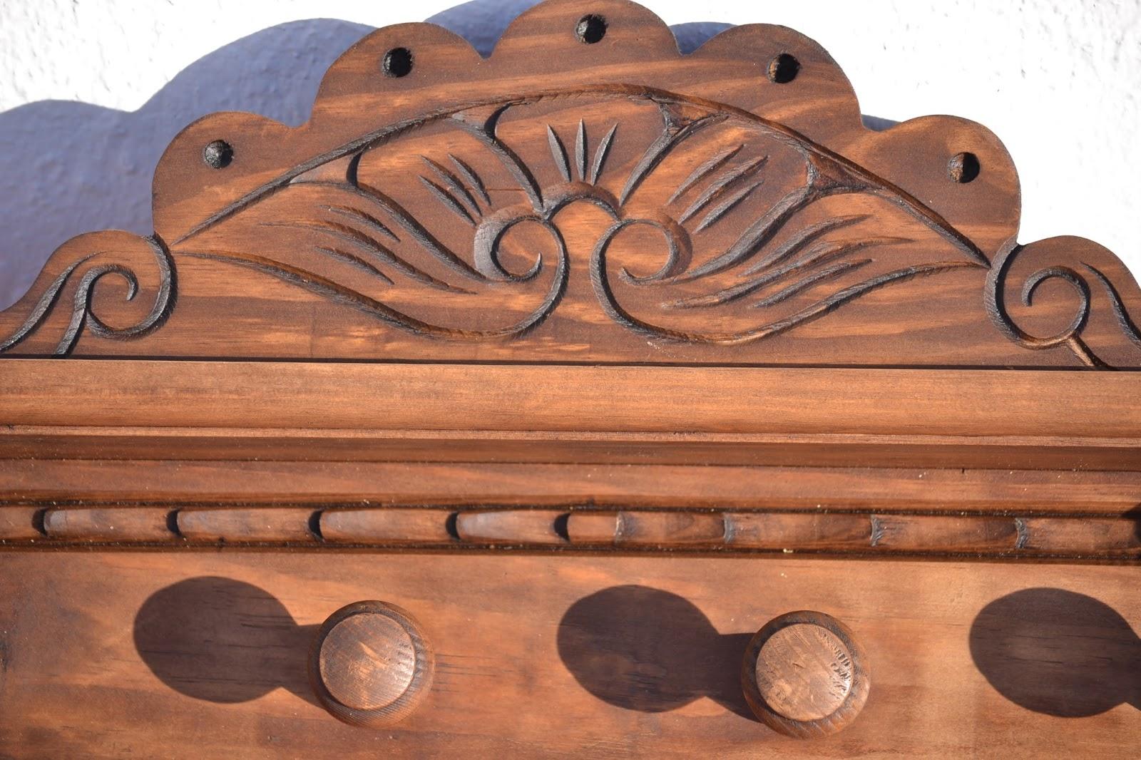Artesan a r stica en madera percheros - Percheros de madera rusticos ...