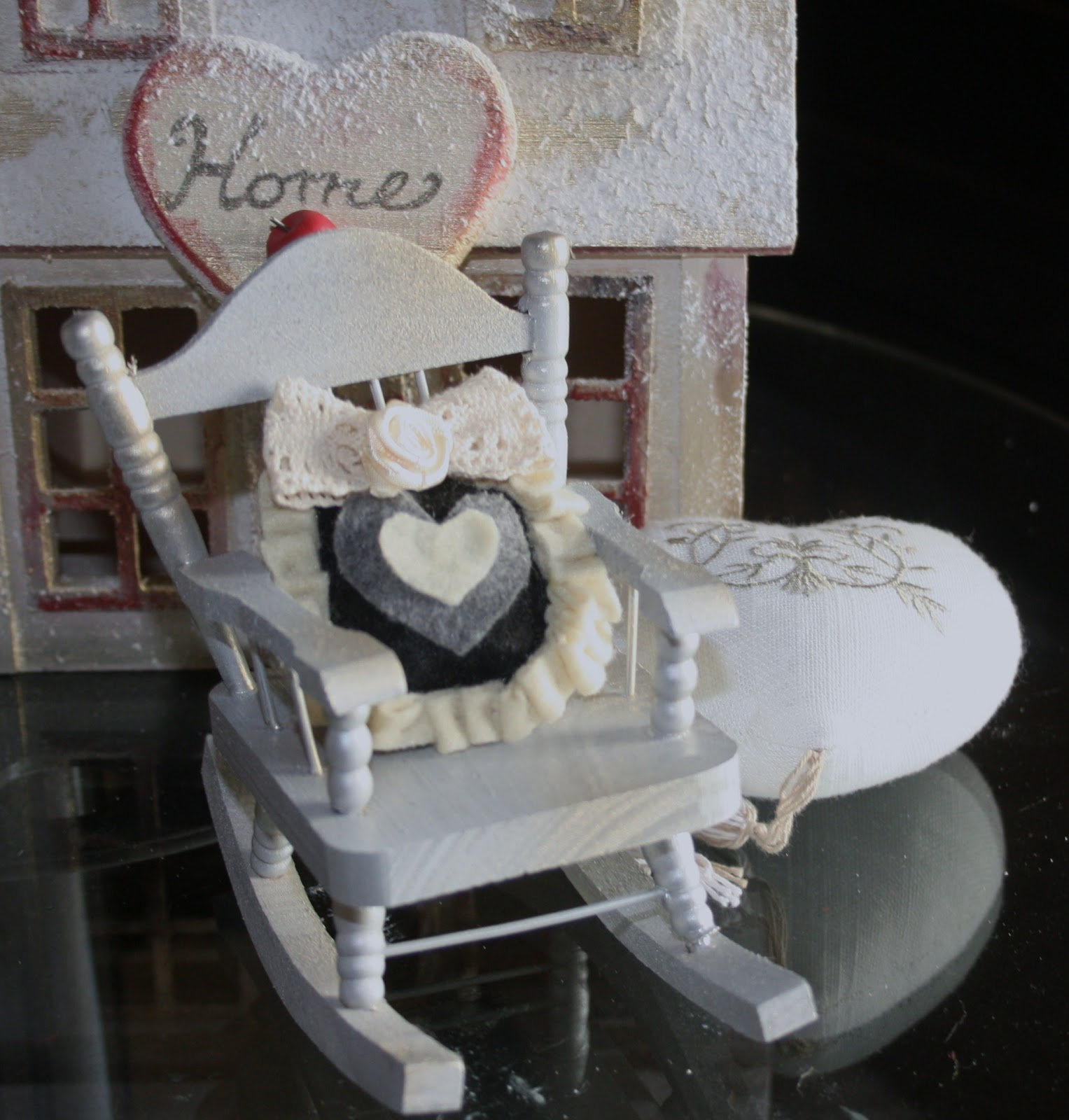 Coprisedie Shabby Chic Emma 39s Words And Creations Sedia Dondolo Con Cuscino