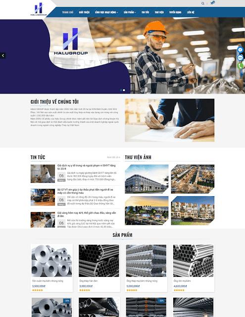 Template blogspot công ty + bán sản phẩm Halugroup