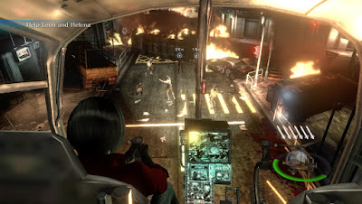 Ada Wong on Helicopter