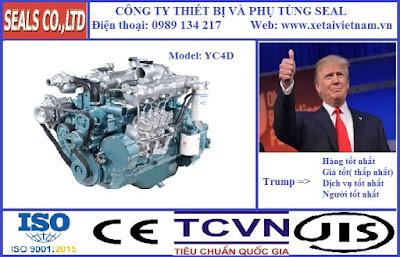 Phụ tùng động cơ yuchai chính hãng tại hà nội - model YC4D