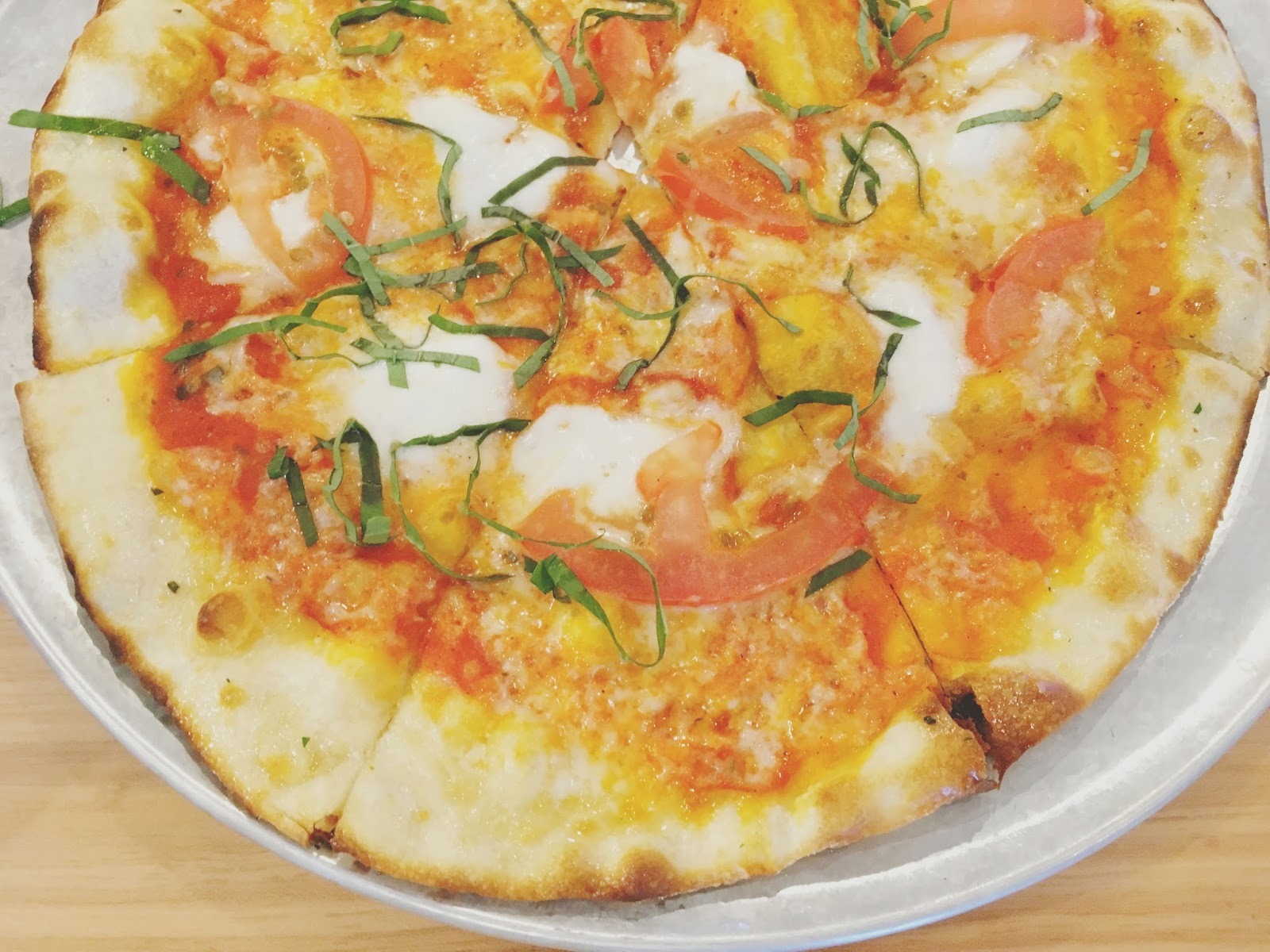 margherita pizza at H.S. Green - A healthy restaurant in Houston, Texas