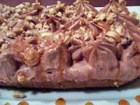 Τσιζ κέικ ψυγείου με πραλίνα φουντουκιού και καραμελωμένα φουντούκια  - by https://syntages-faghtwn.blogspot.gr