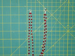 creare la seconda fila del girocollo Swarovski a rosario