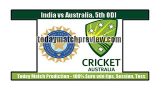 AUS vs IND 5th ODI Today Match Prediction | Who will win IND vs AUS