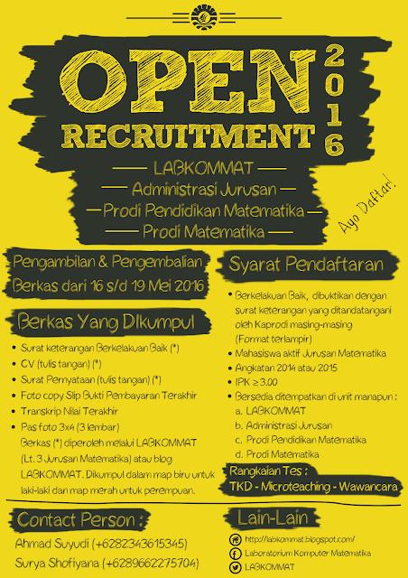 Pamflet Open Recruitment