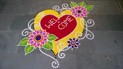 Free Happy New Year Rangoli Designs Wallpapers