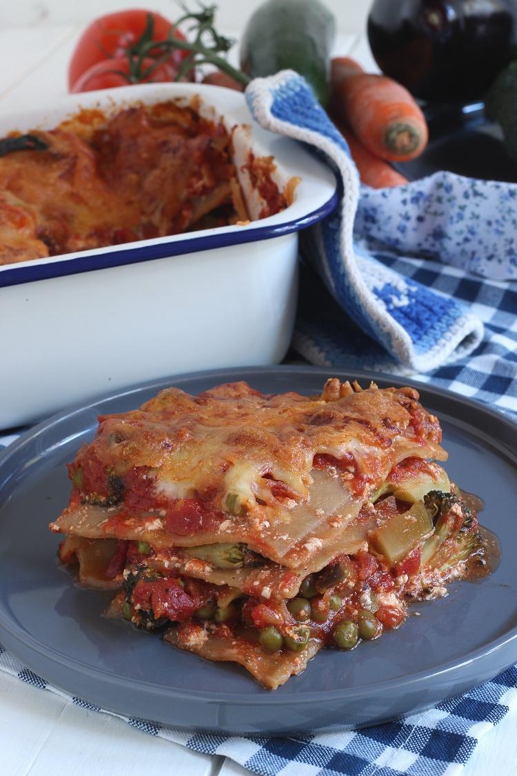Vollkorn-Gemüse-Lasagne