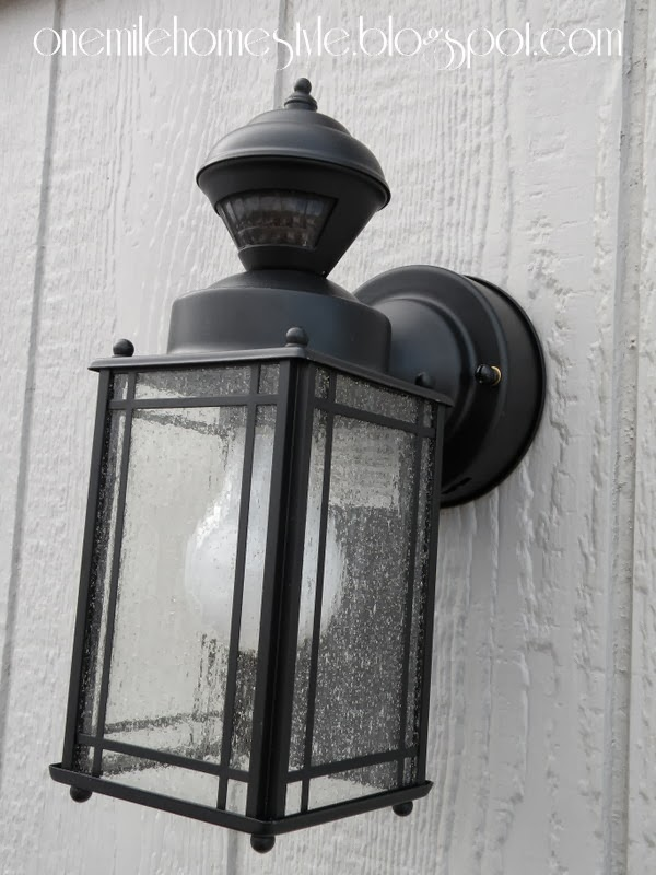 Outdoor Lighting - After  Mission Light  Black Finish