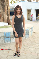 Actress Model Sravani Cute Stills in Silver Tight Short Dress at Pochampally IKAT Art Mela 2017 Launch  0023.jpg