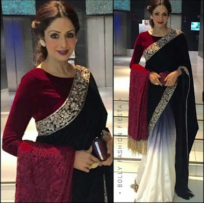 Sridevi Kapoor Half and Half Saree