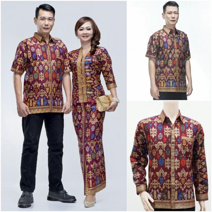 Untuk menampilkan kesan yang lebih berani pada beberapa desain busana batik  pasangan ini bagi wanita bisa memilih menggunakan model rok batik span  pendek ... 22aa209147