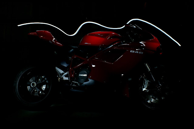 ducati 848 light painting