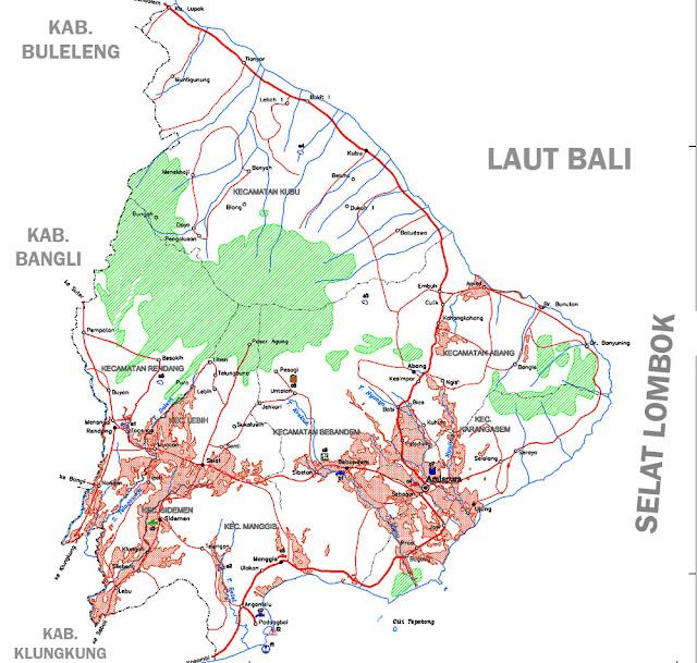 Gambar Peta Infrastruktur Kabupaten Karangasem