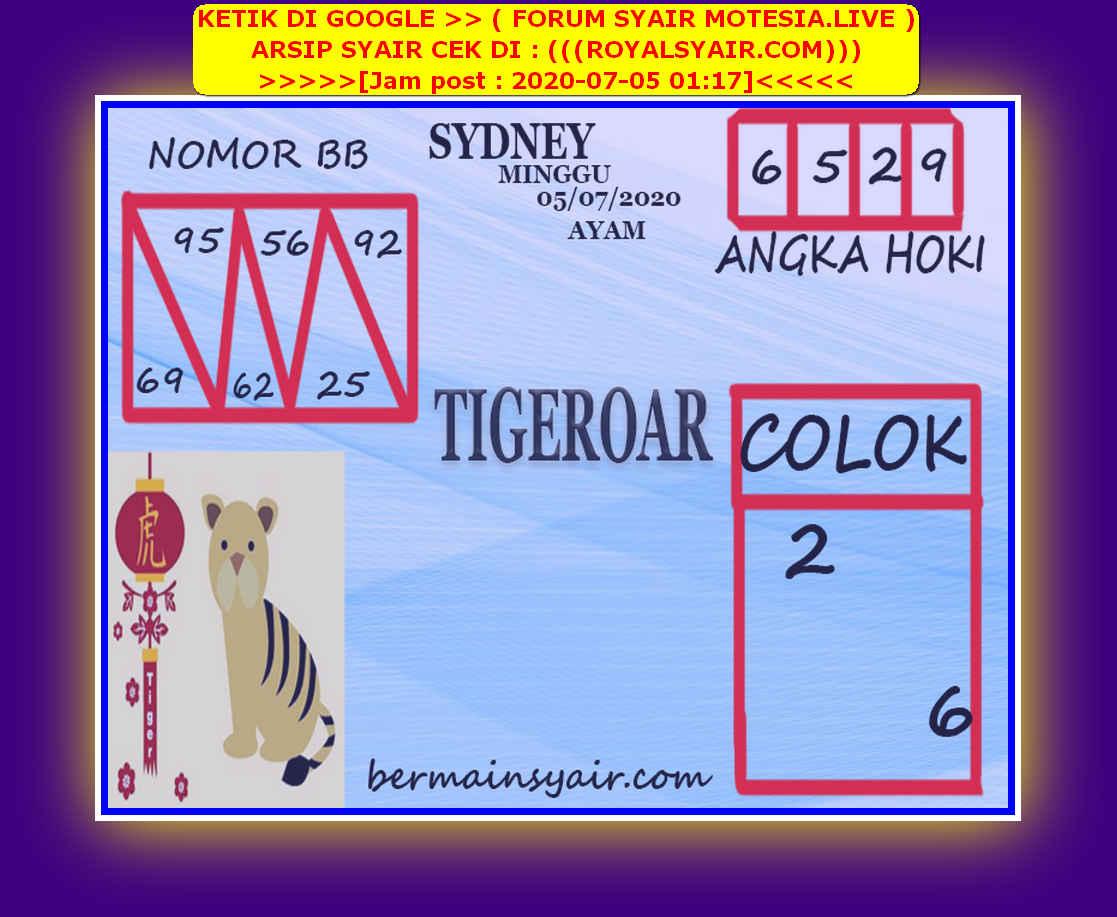 Kode syair Sydney Minggu 5 Juli 2020 221