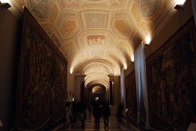 la galerie des tapisseries possède des exemplaires flamands réalisés à l'époque de Clément VII