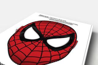 Máscara del Hombre Araña para Imprimir Gratis.