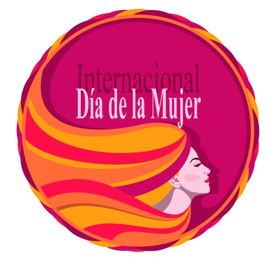 Marco circular del Día de la Mujer - vector