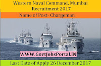 Western Naval Command, Mumbai Recruitment 2017– 99 Chargeman