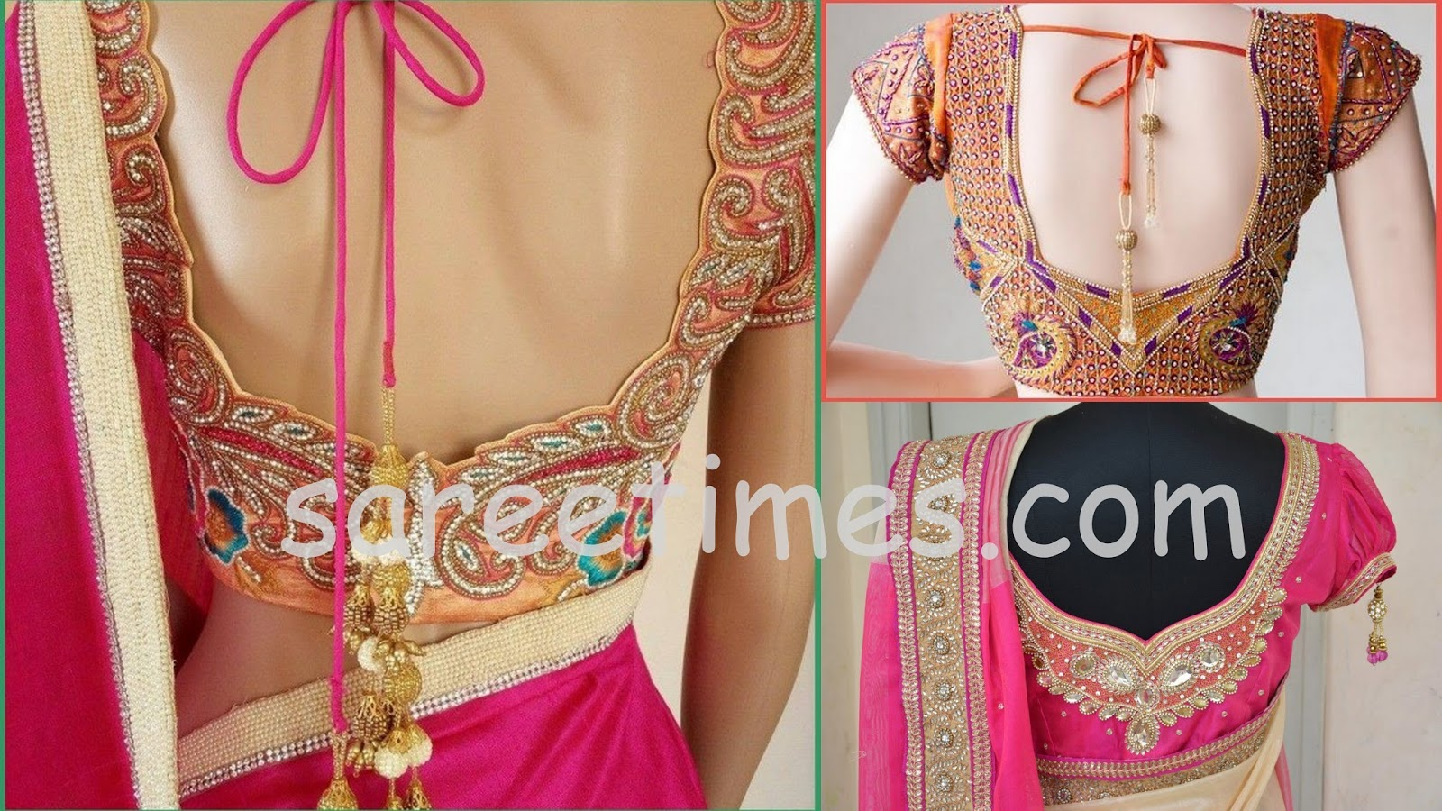 Blouse designs saree blouse back designs blouses neck designs 30 jpg - Tags Saree Blouse Back Designs Embroidery Blouses Kundan Saree Blouses