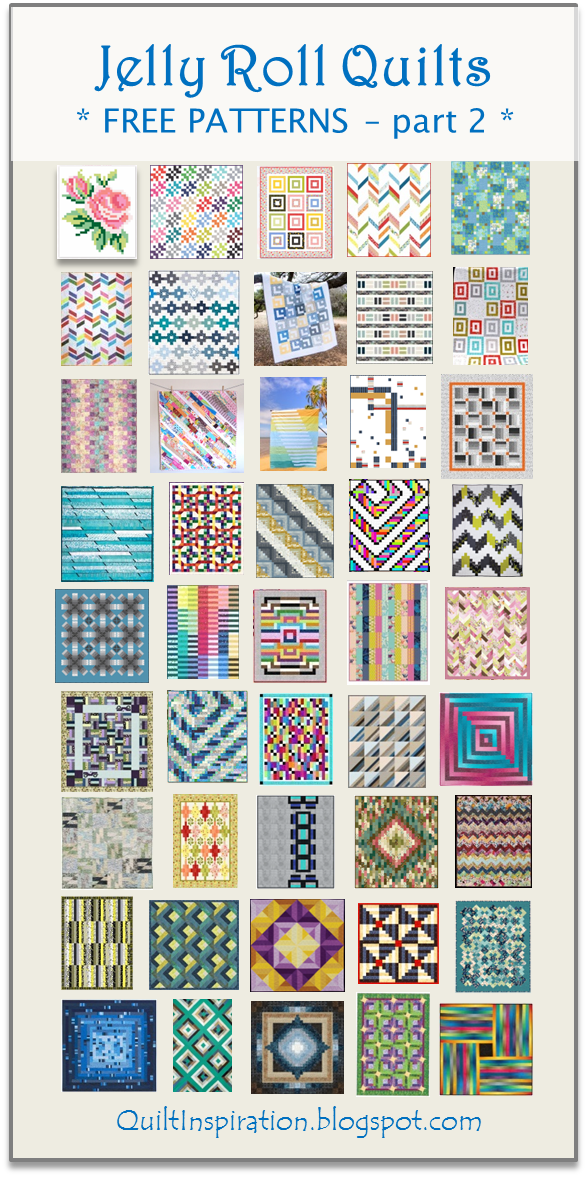 Quilt Inspiration: Free Pattern Day! Jelly Roll Quilts, part 2 of 2