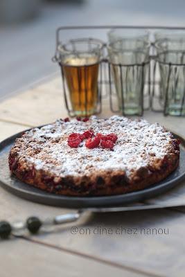 tarte crumble , framboises , épeautre , dessert rapide , facile