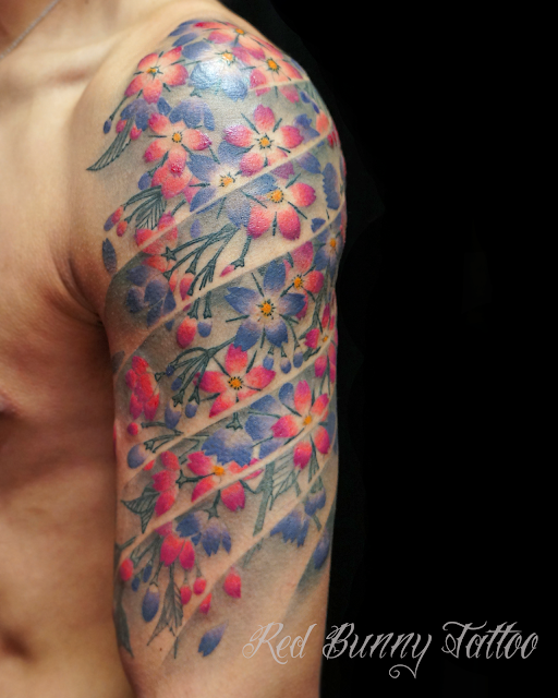 cherryblossom  tattoo flower  花 桜 タトゥー