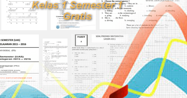 Download Soal Uas Sd Kelas 1 Semester 1 Gratis File Terbaru