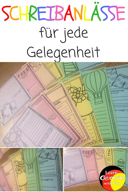Eine vielfältige Schreibanlass-Sammlung. Viele Arbeitsblätter für die Grundschule.